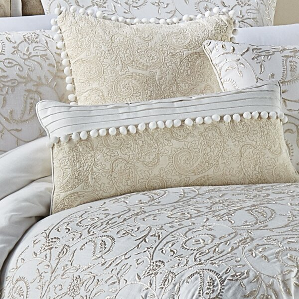 Cela 100% Cotton Boudoir/Breakfast Pillow by Croscill Home Fashions